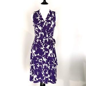 LOFT Faux Wrap Floral Print Dress